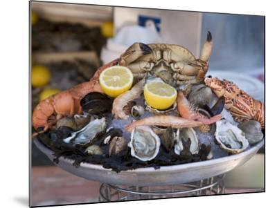 Seafood, Nice, Alpes Maritimes, Provence, Cote d'Azur, French Riviera, France-Angelo Cavalli-Mounted Photographic Print
