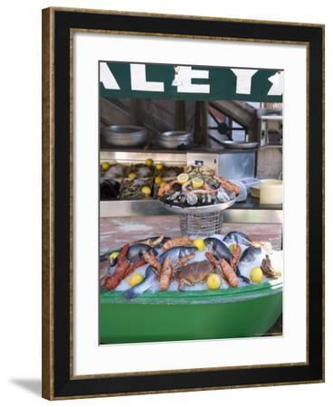 Seafood Restaurant, Nice, Alpes Maritimes, Provence, Cote d'Azur, French Riviera, France-Angelo Cavalli-Framed Photographic Print
