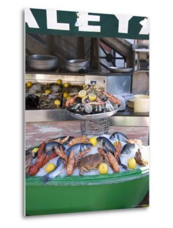 Seafood Restaurant, Nice, Alpes Maritimes, Provence, Cote d'Azur, French Riviera, France-Angelo Cavalli-Metal Print