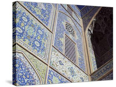 Detail of Tilework, Masjid-E Imam, Formerly the Shah Mosque, Isfahan, Iran-Robert Harding-Stretched Canvas Print