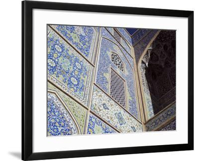 Detail of Tilework, Masjid-E Imam, Formerly the Shah Mosque, Isfahan, Iran-Robert Harding-Framed Photographic Print