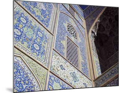 Detail of Tilework, Masjid-E Imam, Formerly the Shah Mosque, Isfahan, Iran-Robert Harding-Mounted Photographic Print