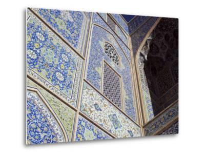 Detail of Tilework, Masjid-E Imam, Formerly the Shah Mosque, Isfahan, Iran-Robert Harding-Metal Print