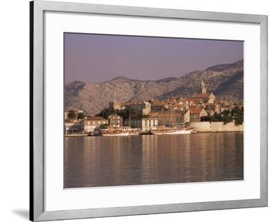 Korcula Old Town, Korcula Island, Dalmatia, Croatia-Peter Higgins-Framed Photographic Print