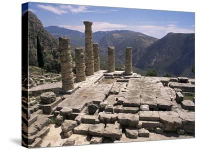 Temple of Apollo, Delphi, Unesco World Heritage Site, Greece-Ken Gillham-Stretched Canvas Print
