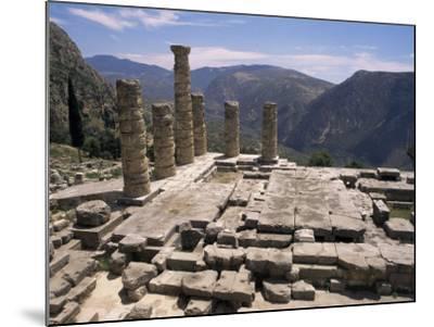Temple of Apollo, Delphi, Unesco World Heritage Site, Greece-Ken Gillham-Mounted Photographic Print