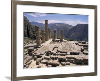 Temple of Apollo, Delphi, Unesco World Heritage Site, Greece-Ken Gillham-Framed Photographic Print