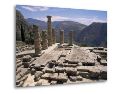 Temple of Apollo, Delphi, Unesco World Heritage Site, Greece-Ken Gillham-Metal Print