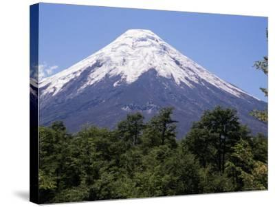 Mount Osorno, a Volcano in Vicente Rosales National Park, Lake District, Chile, South America-Ken Gillham-Stretched Canvas Print