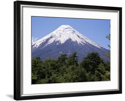 Mount Osorno, a Volcano in Vicente Rosales National Park, Lake District, Chile, South America-Ken Gillham-Framed Photographic Print