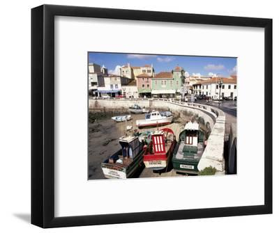 Fishing Boats at Low Tide, Peniche, Estremadura, Portugal-Ken Gillham-Framed Photographic Print