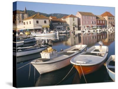 Morning Calm in the Harbour, Starigrad, Hvar Island, Central Dalmatia, Croatia-Ken Gillham-Stretched Canvas Print