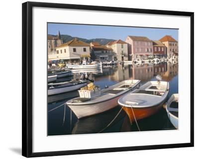 Morning Calm in the Harbour, Starigrad, Hvar Island, Central Dalmatia, Croatia-Ken Gillham-Framed Photographic Print