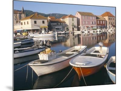 Morning Calm in the Harbour, Starigrad, Hvar Island, Central Dalmatia, Croatia-Ken Gillham-Mounted Photographic Print