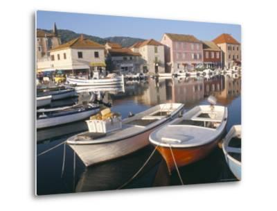 Morning Calm in the Harbour, Starigrad, Hvar Island, Central Dalmatia, Croatia-Ken Gillham-Metal Print