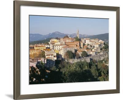 Ochre and Pastels at Sunset, Medieval Hilltop Town, Labin, Istria, Croatia-Ken Gillham-Framed Photographic Print