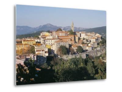 Ochre and Pastels at Sunset, Medieval Hilltop Town, Labin, Istria, Croatia-Ken Gillham-Metal Print