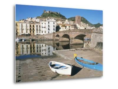 River Temo, Bosa, Nuoro Province, Sardinia, Italy-Ken Gillham-Metal Print