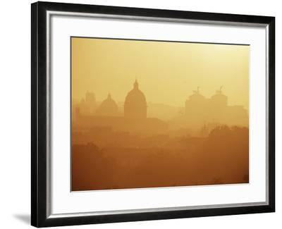 City Under Morning Fog, Seen from the Janiculum Hill, Rome, Lazio, Italy-Ken Gillham-Framed Photographic Print