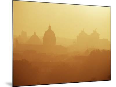 City Under Morning Fog, Seen from the Janiculum Hill, Rome, Lazio, Italy-Ken Gillham-Mounted Photographic Print