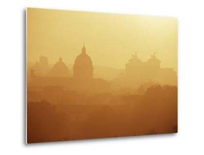 City Under Morning Fog, Seen from the Janiculum Hill, Rome, Lazio, Italy-Ken Gillham-Metal Print