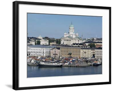 Harbour with Lutheran Cathedral Rising Behind, Helsinki, Finland, Scandinavia-Ken Gillham-Framed Photographic Print