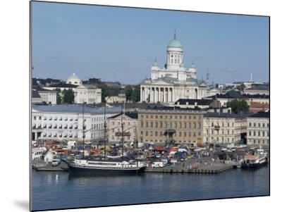 Harbour with Lutheran Cathedral Rising Behind, Helsinki, Finland, Scandinavia-Ken Gillham-Mounted Photographic Print