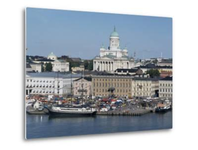 Harbour with Lutheran Cathedral Rising Behind, Helsinki, Finland, Scandinavia-Ken Gillham-Metal Print