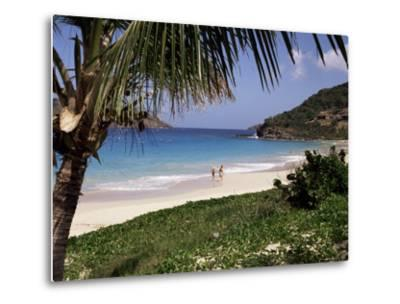 Beach at Anse Des Flamands, St. Barthelemy, West Indies, Central America-Ken Gillham-Metal Print