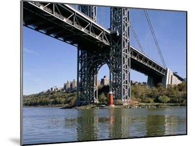 Little Red Lighthouse Under George Washington Bridge, New York, USA-Peter Scholey-Mounted Premium Photographic Print