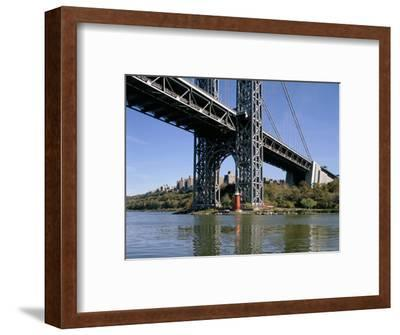 Little Red Lighthouse Under George Washington Bridge, New York, USA-Peter Scholey-Framed Photographic Print