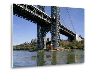 Little Red Lighthouse Under George Washington Bridge, New York, USA-Peter Scholey-Metal Print