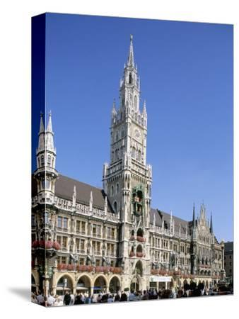 Town Hall, Munich, Bavaria, Germany-Peter Scholey-Stretched Canvas Print