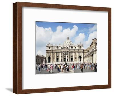 St. Peter's Square, Vatican, Rome, Lazio, Italy-Peter Scholey-Framed Photographic Print