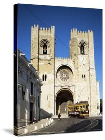 The Romanesque Style Se (Cathedral), Lisbon, Portugal-Peter Scholey-Stretched Canvas Print