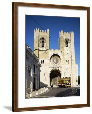 The Romanesque Style Se (Cathedral), Lisbon, Portugal-Peter Scholey-Framed Photographic Print