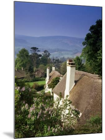Thatched Cottages at Selworthy Green, with Exmoor Beyond, Somerset, England, United Kingdom-Chris Nicholson-Mounted Photographic Print