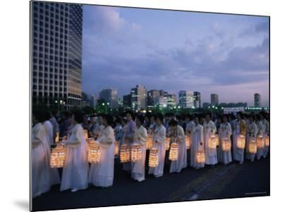 Lantern Parade at Beginning of Buddha's Birthday Evening, Yoido Island, Seoul, Korea-Alain Evrard-Mounted Photographic Print