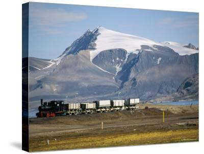 Old Colliery Locomotive, Ny Alesund, Spitsbergen, Norway, Scandinavia-David Lomax-Stretched Canvas Print