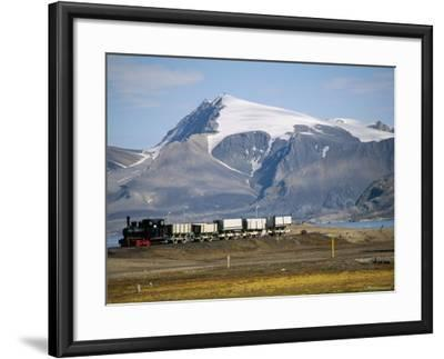 Old Colliery Locomotive, Ny Alesund, Spitsbergen, Norway, Scandinavia-David Lomax-Framed Photographic Print