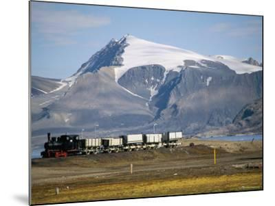 Old Colliery Locomotive, Ny Alesund, Spitsbergen, Norway, Scandinavia-David Lomax-Mounted Photographic Print