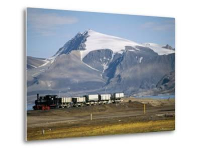 Old Colliery Locomotive, Ny Alesund, Spitsbergen, Norway, Scandinavia-David Lomax-Metal Print