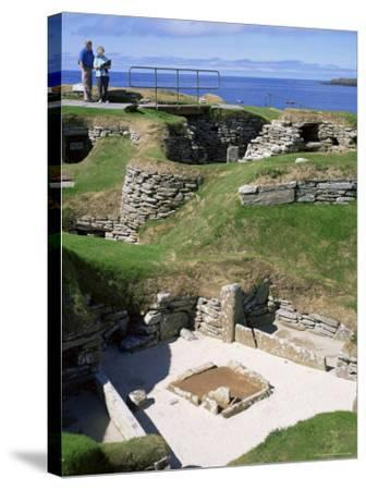Skara Brae, Mainland, Orkneys, Scotland, United Kingdom-David Lomax-Stretched Canvas Print