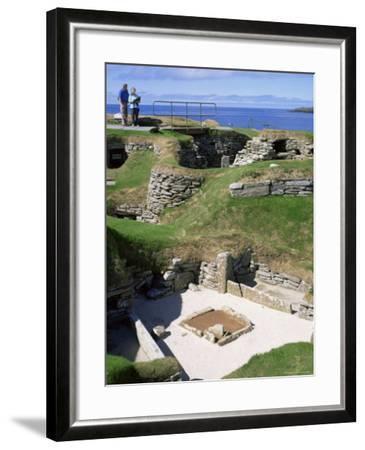 Skara Brae, Mainland, Orkneys, Scotland, United Kingdom-David Lomax-Framed Photographic Print