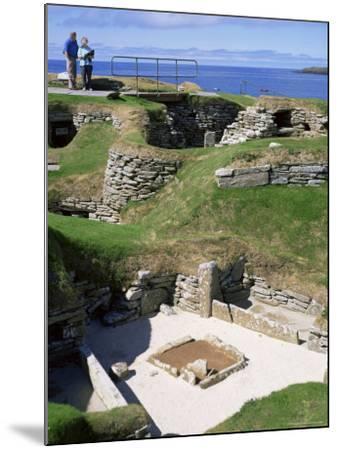 Skara Brae, Mainland, Orkneys, Scotland, United Kingdom-David Lomax-Mounted Photographic Print