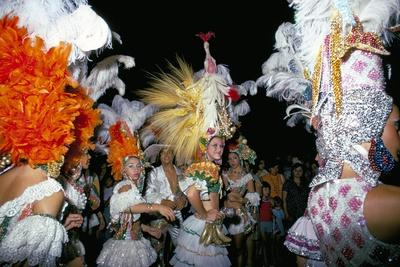Carnival, Corrientes, Northern Argentina, Argentina, South America-Walter Rawlings-Stretched Canvas Print