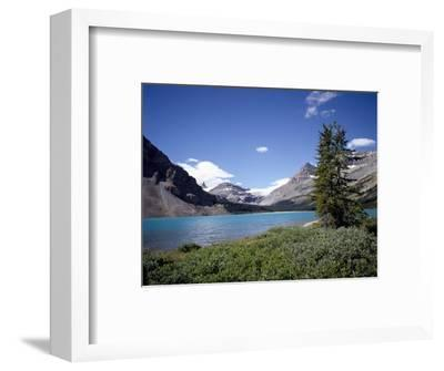 Bow Lake with Bow Glacier Behind, Icefields Parkway, Banff National Park, Alberta-Geoff Renner-Framed Photographic Print