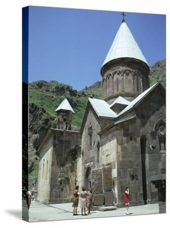 Geghard Monastery, Unesco World Heritage Site, Armenia, Central Asia-Sybil Sassoon-Stretched Canvas Print