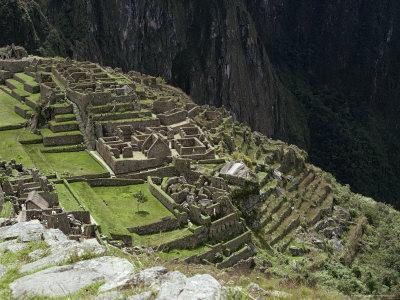 Inca Ruins, Machu Picchu, Unesco World Heritage Site, Peru, South America-Sybil Sassoon-Framed Photographic Print