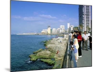 View of Waterfront and Downtown, El Manara Corniche, Beirut, Lebanon, Middle East-Gavin Hellier-Mounted Photographic Print